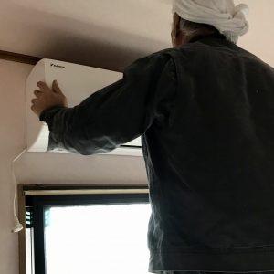 いわき市エアコン取付工事