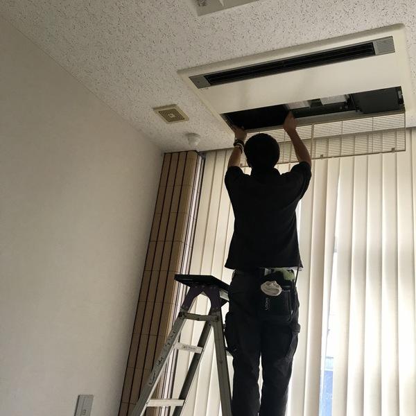 いわき市 業務用エアコンフィルタークリーニング!
